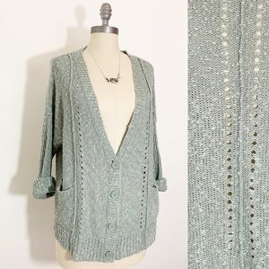 Olive and Oak Green Oversized Slouchy Cardigan L
